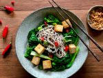 Buckwheat Noodle with Tofu and Asian Greens